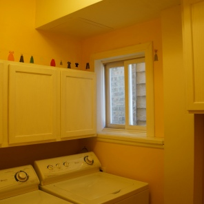 Existing laundry room {to be relocated}