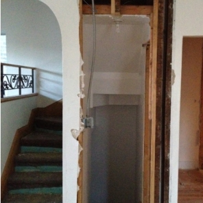 In progress ~ stairways to second floor and basement