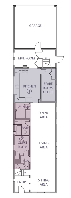 Existing first floor layout