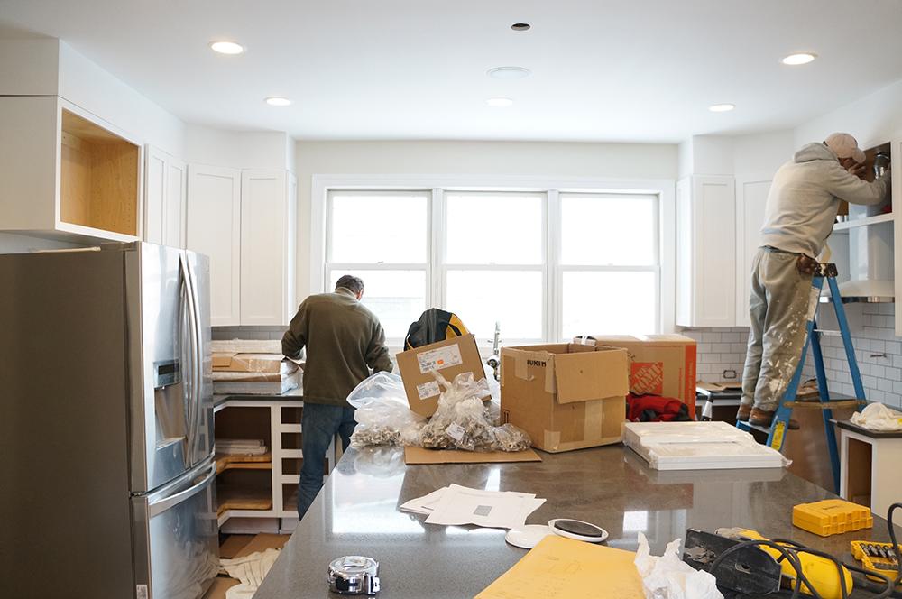 kitchen cabinet install 1