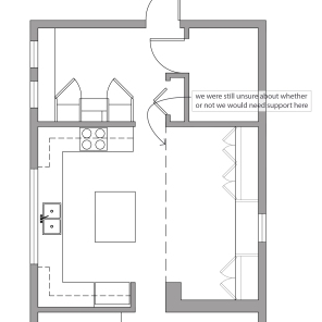 Kitchen layout option 5