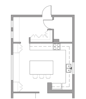 Kitchen layout option 2