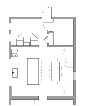 Kitchen layout option 1