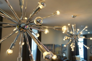 closeup of dining room lights