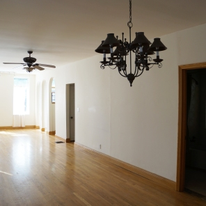 Existing living room {toward front door}