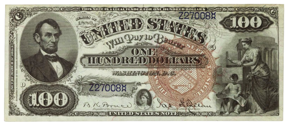 1880 hundred dollar bill